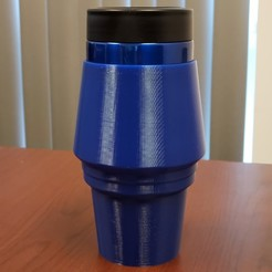 Free 3D printer files Yeti Rambler Colster Koozie Cup Holder Adapter, ThatJoshGuy