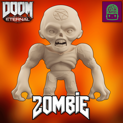 Download STL file Doom Eternal Zombie Collectible Figurine High Res Custom Model, ThatJoshGuy