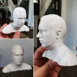 Download free STL files ThatJoshGuy's Head - 3D Scan via Kinect V1 and Skanect Software, ThatJoshGuy