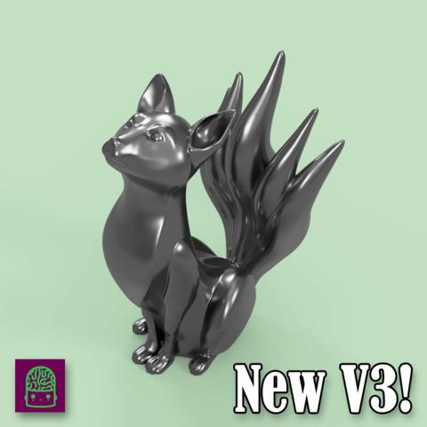 v32.png Download free STL file Kitsune - Easy Print, no supports required. New V3!!! • Design to 3D print, ThatJoshGuy