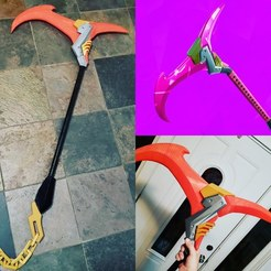 Descargar archivos STL Fortnite Rift Edge Pickaxe Cosplay Prop MultiColor, ThatJoshGuy