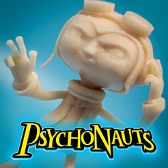 "Download 3D printer files Razputin ""Raz"" Aquato Psychonauts Video Game Character, ThatJoshGuy"