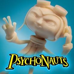 "Descargar modelos 3D para imprimir Razputin ""Raz"" Aquato Psychonauts Video Game Character, ThatJoshGuy"