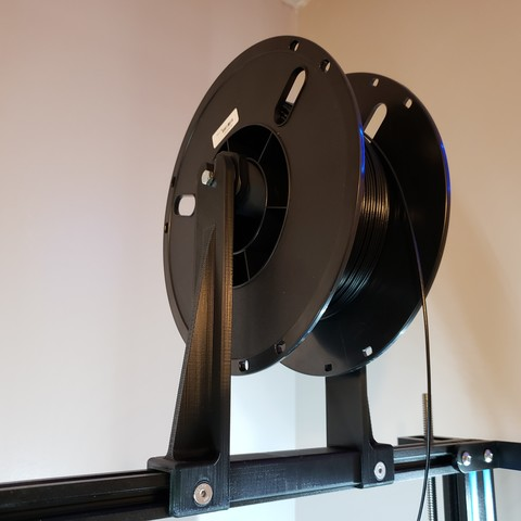 Download free 3D printing models Centered Top Mount Spool Holder for Geeetech A30 and CR-10 style printers, ThatJoshGuy