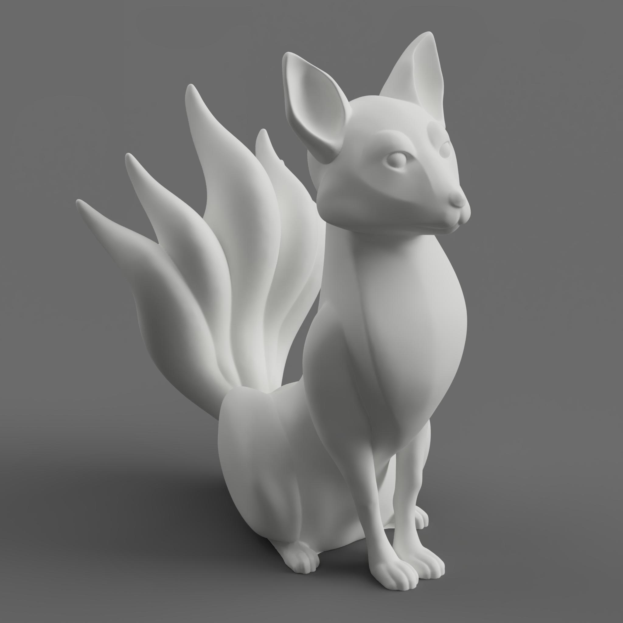 TJG_Kitsune01.png Download free STL file Kitsune - Easy Print, no supports required. New V3!!! • Design to 3D print, ThatJoshGuy