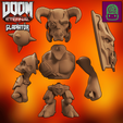 Download 3D print files DOOM ETERNAL GLADIATOR COLLECTIBLE FIGURINE HIGH RES CUSTOM MODEL, ThatJoshGuy