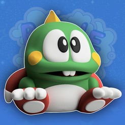 Download STL Bubble Bobble (Bust-A-Move / Puzzle Bobble) Classic Video Game, ThatJoshGuy