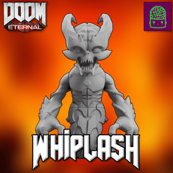 Download 3D printer designs DOOM ETERNAL WHIPLASH COLLECTIBLE FIGURINE HIGH RES CUSTOM MODEL, ThatJoshGuy