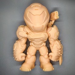 Download 3D printing files Doom Eternal Doom Slayer Collectible Figurine High Res Custom Model, ThatJoshGuy