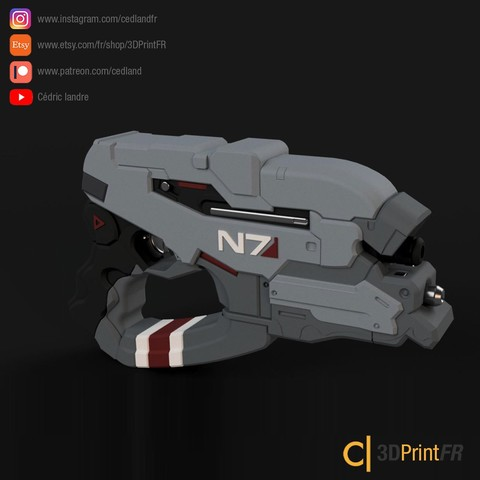 Download STL files 3D File N7 Eagle inspired by Mass Effect Replica 1:1 FanArt prop, cedland