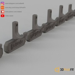 Download free 3D printing models Wall bracket for Harry Potter chopsticks, cedland