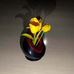 Vase-Sized-02e.jpg Télécharger fichier STL gratuit Vase étrange v2 • Design pour impression 3D, cedland