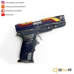 STL file Destiny 2 Enigma Draw Legendary 1:1 Prop replica, cedland