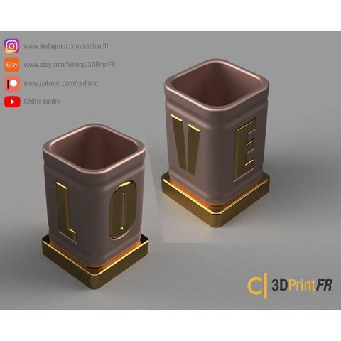 BASE-1200x1200-04.jpg Télécharger fichier STL gratuit Pot à crayon ou petite boite pour la Saint Valentin ! • Plan pour impression 3D, cedland