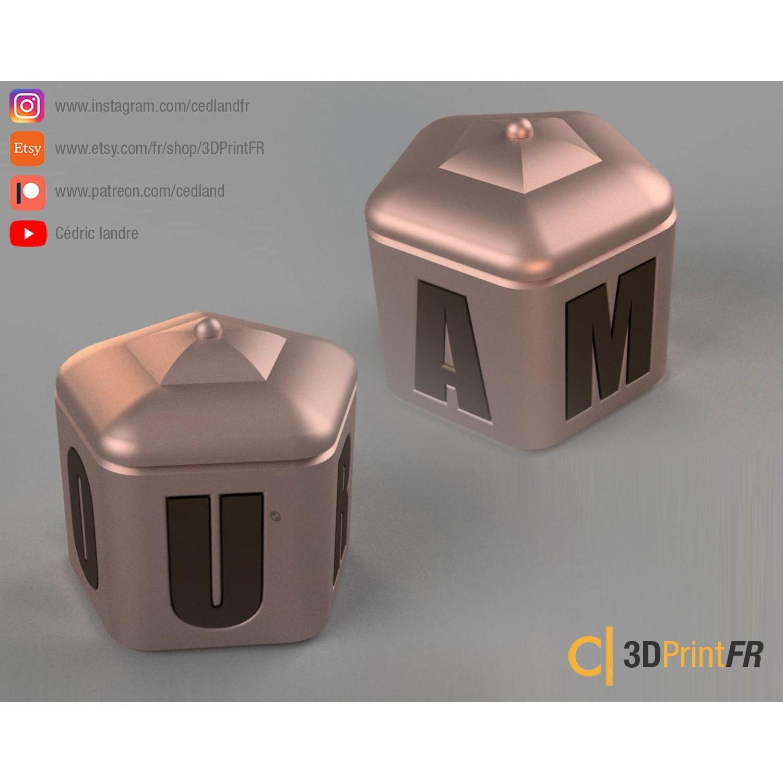 BASE-1200x1200-02.jpg Télécharger fichier STL gratuit Boite à bijoux pour la Saint Valentin ! • Plan à imprimer en 3D, cedland
