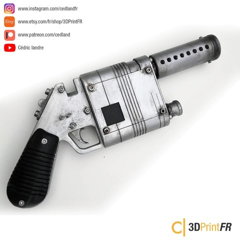 Download 3D printing files Rey Blaster NN-14 from Starwars FanArt Props Replica, cedland