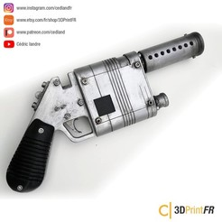 3D print files Rey Blaster NN-14 from Starwars FanArt Props Replica, cedland