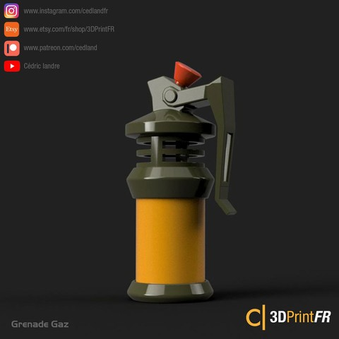 Fortnite-Gaz-02.jpg Télécharger fichier STL gratuit FanArt d'une Grenade Gaz • Design à imprimer en 3D, cedland
