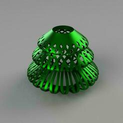 Sapin_de_noel_01.jpg Download free STL file Lamp shade Christmas tree • 3D printer model, cedland