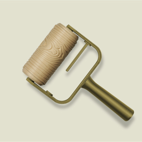 Download Free 3d Print Files Wood Grain Paint Roller ・ Cults
