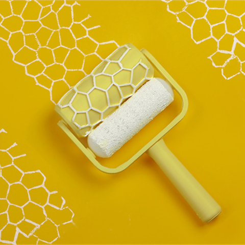 Descargar diseños 3D gratis Rodillo de pintura Voronoi, G3tPainted