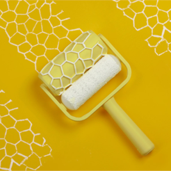 Download free 3D printing files Voronoi Paint Roller, G3tPainted