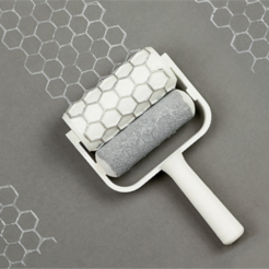 Download free STL file Honeycomb Paint Roller • 3D printable design, G3tPainted