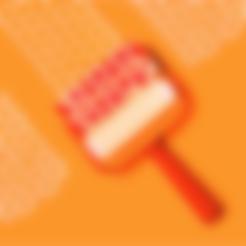 Handle.STL Download free STL file Trefoil Paint Roller • 3D printer model, G3tPainted