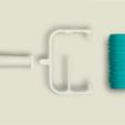 Free 3D printer designs Wave Paint Roller, G3tPainted