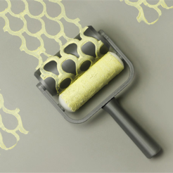 Download free 3D printing designs Fish Scales Paint Roller, G3tPainted