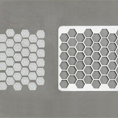 Télécharger modèle 3D gratuit Pochoir en nid d'abeille, G3tPainted