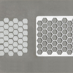 Download free 3D print files Honeycomb Stencil, G3tPainted