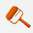 Download free STL file Chevron Paint Roller • 3D printer model, G3tPainted