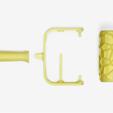 Free 3D model Voronoi Paint Roller, G3tPainted