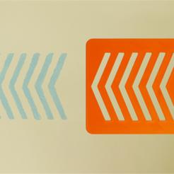 Free 3D printer designs Chevron Stencil, G3tPainted
