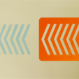 Free 3D printer designs Chevron Stencil, G3tPainted
