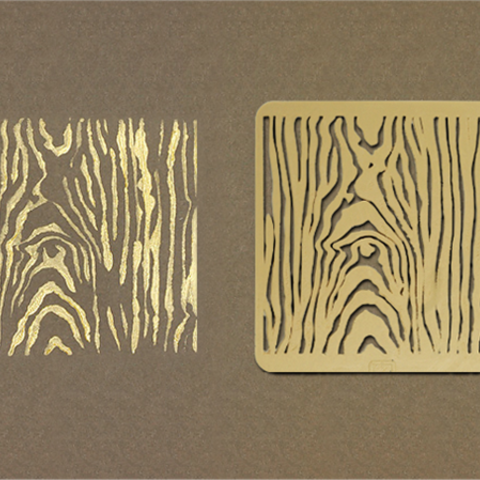 Download free STL file Wood Grain Stencil • 3D printing template, G3tPainted