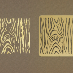 Free 3D printer files Wood Grain Stencil, G3tPainted