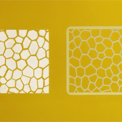 Download free 3D printer files Voronoi Stencil, G3tPainted