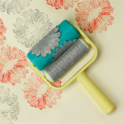 Download free 3D printing designs Flower Paint Roller, G3tPainted