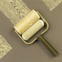 Free 3D print files Wood Grain Paint Roller, G3tPainted