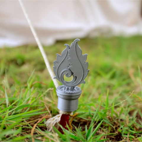 Download free STL file Glamping Tent Stake Cover • 3D printing object, TeamOutdoor