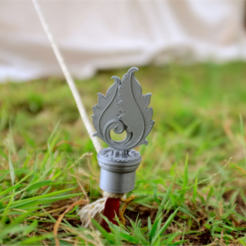 Download free 3D printing designs Glamping Tent Stake Cover, TeamOutdoor