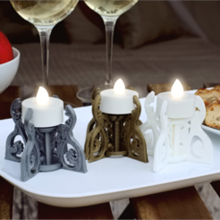 Free 3D printer designs Glamping Tealight Holder, TeamOutdoor