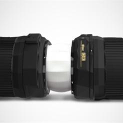 Descargar diseños 3D gratis Doble tapa de lente, HarryDalster