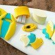 Diseños 3D gratis Surf Fins - Luna llena, HarryDalster