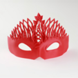 Download free STL file Mardi Gras Mask • 3D print template, Face3D