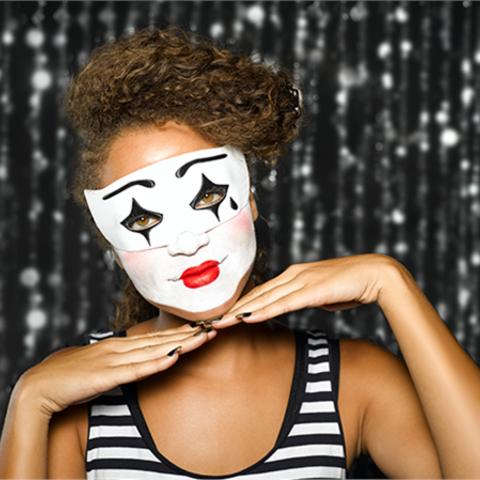 Download free STL file Harlequin Mask • 3D print design, Face3D