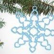 Télécharger fichier STL gratuit Décorations de flocons de neige, D5Toys