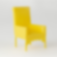 Download free STL file Victorian Moorish Chair • 3D printer template, D5Toys